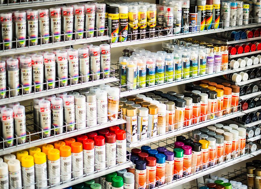 Autolacke Farben.Produkte Seril